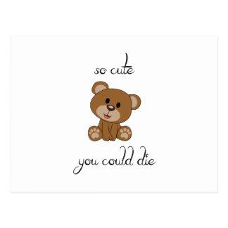 So Cute Teddy Postcard