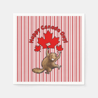 So Excited Canada Day Party Paper Napkins