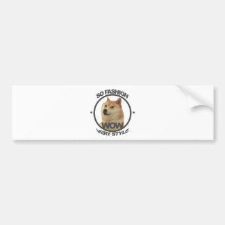 So Fashion, So Doge Bumper Sticker