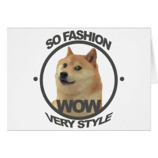 So Fashion, So Doge Card