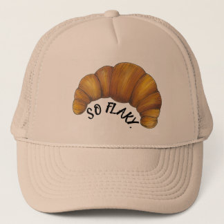 So Flaky Buttery Croissant French Pastry Foodie Trucker Hat