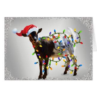 SO Good Christmas Goat Greeting Card