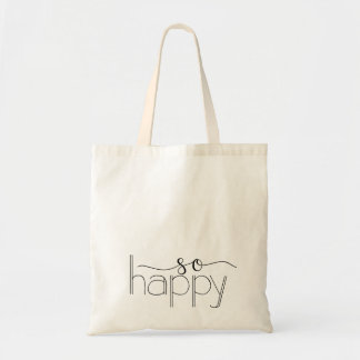So Happy Hand Lettered Tote Bag