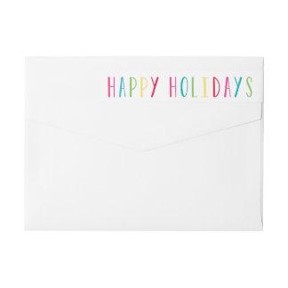 So Happy | Holiday Return Address Labels