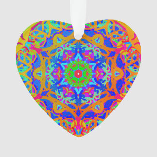So Happy Together Rainbow Mandala Heart Ornament