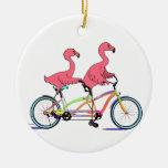 So Happy Together Tandem Flamingos Ornaments