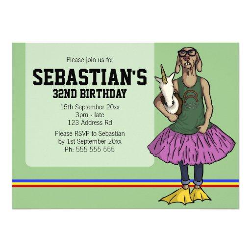 So Hip, 5.5x7.5 birthday Personalized Invite
