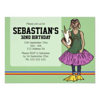 """So Hip, 5.5x7.5 birthday 5.5"""" X 7.5"""" Invitation Card"""