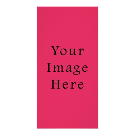 So Hot Pink Color Trend Blank Template Custom Photo Card