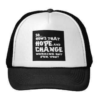 so hows hope and change dark shirt mesh hats