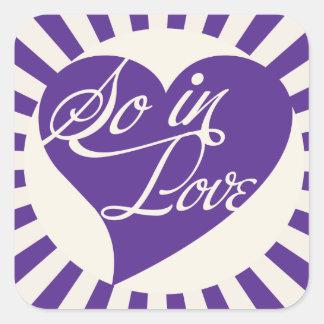 So in LOVE Square Sticker