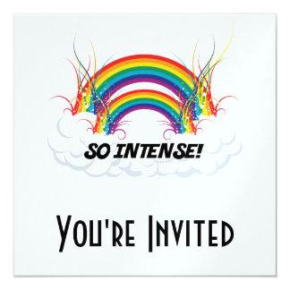 SO INTENSE DOUBLE RAINBOW 13 CM X 13 CM SQUARE INVITATION CARD