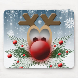 So It Glows Christmas Xmas Holiday Reindeer Mouse Pad
