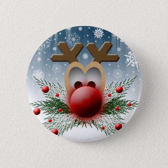 So It Glows Reindeer Xmas Holiday Christmas 6 Cm Round Badge