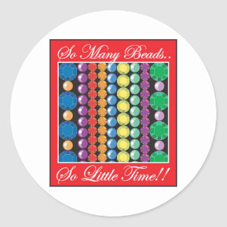 So Many Beads Classic Round Sticker