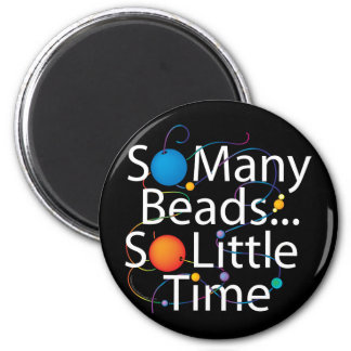So Many Beads New 6 Cm Round Magnet