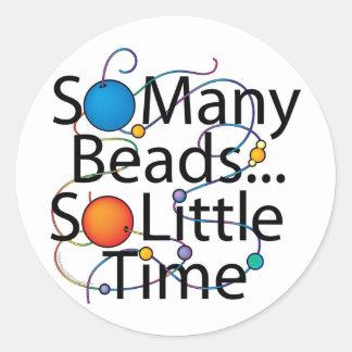 So Many Beads New Round Sticker