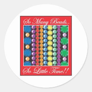 So Many Beads Round Sticker