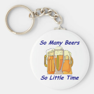 So Many Beers, So Little Time Basic Round Button Key Ring