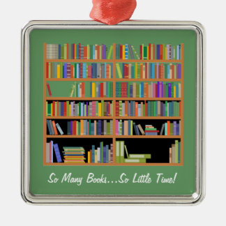 So Many Books (customizable) Christmas Ornament