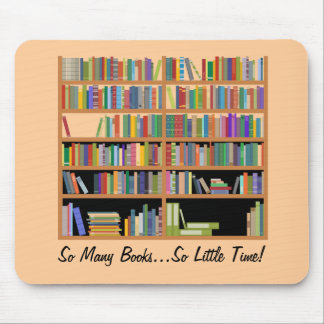 So Many Books (customizable) Mouse Mat