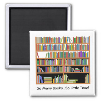 So Many Books (customizable) Square Magnet