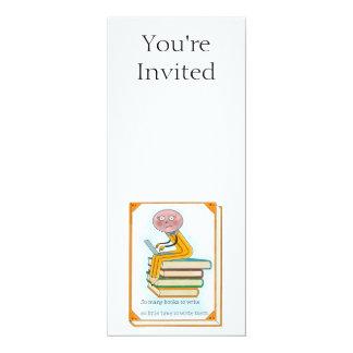 So Many Books to Write 10 Cm X 24 Cm Invitation Card