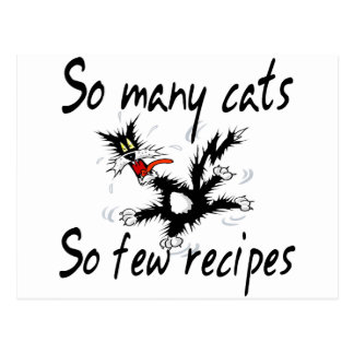 So Many Cats So Few Recipes Postcard