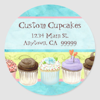 So Many Cupcakes, so Little Time!  Address Sticker