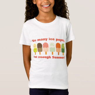So Many Ice Pops Not Enough Summer Cute Ice Cream T-Shirt