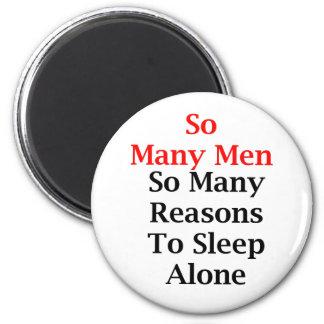 So Many Men Round Magnet