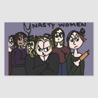 So many Nasty Women! Rectangular Sticker