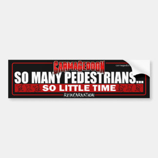 So Many Peds Bumper Sticker