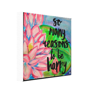 So many reasons to be Happy (YZQ) Canvas Print