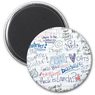 So Many School Doodles 6 Cm Round Magnet