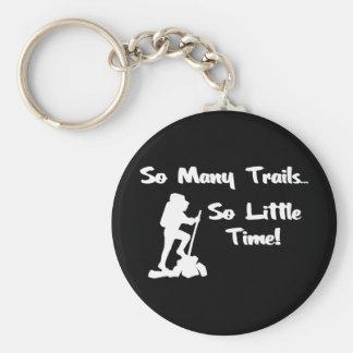 So Many Trails... Basic Round Button Key Ring