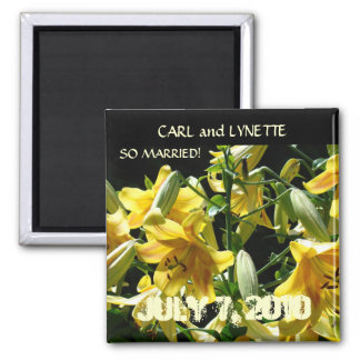 So Married! Save the Date magnet favor gift LILIES