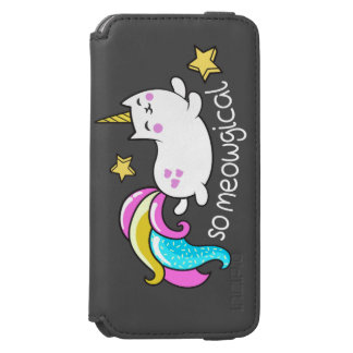 So Meowgical Cute Unicorn kitty glitter sparkles Incipio Watson™ iPhone 6 Wallet Case