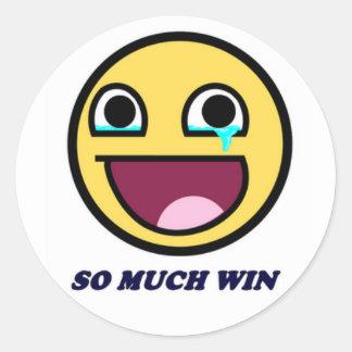 So Much Win! Classic Round Sticker