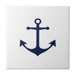 So Nautical - Blue Anchor on White Ceramic Tile