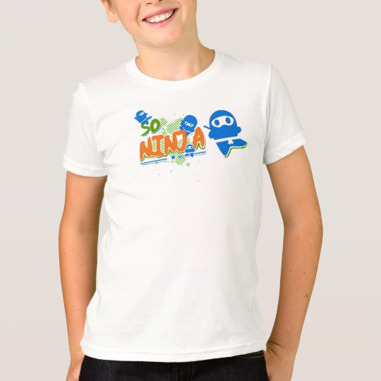 So Ninja Blue Kids Ringer T-Shirt