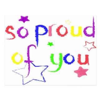 So proud of you postcard