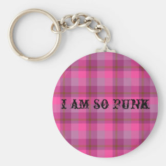 So Punk Plaid Keychain