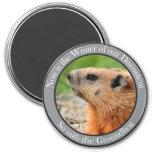 So saith the groundhog 7.5 cm round magnet