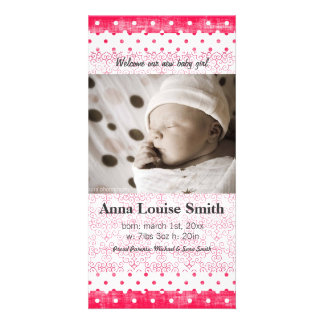 SO SASSY BIRTH ANNOUNCEMENT PHOTO GREETING CARD