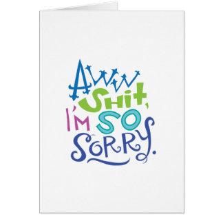 So Sorry Apology Card