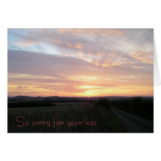 So sorry for your loss (loss of a pet) greeting card