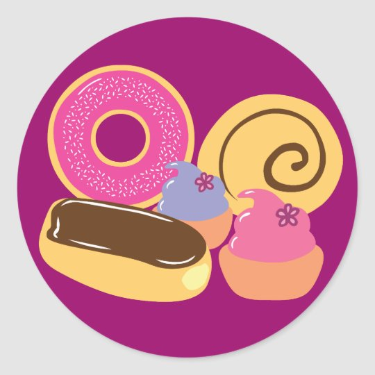 So Sweet Desserts Classic Round Sticker