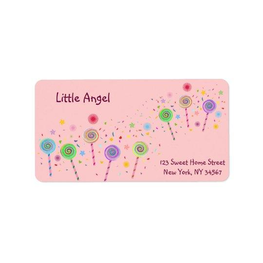 So Sweet(Lollypop) Address Label