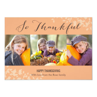 So Thankful Thanksgiving Photo Cards